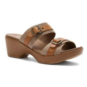 DANSKO Jessie Sand Lizard Sandals Clogs SZ 40